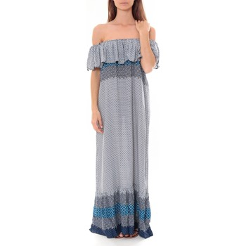 Clothing Women Long Dresses By La Vitrine Robe Longue Care  of you  Bleu F50055 Blue