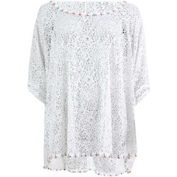 Clothing Women Tops / Blouses Banana Moon Tunic  Seethrough Coral White WHITE