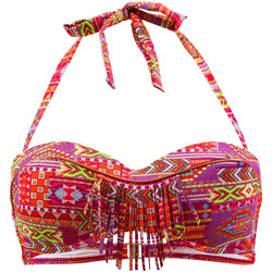Clothing Women Bikini Separates Kiwi Multicolor Bandeau Swimsuit Brazil MULTICOLOUR