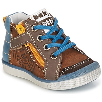 Shoes Boy Hi top trainers Babybotte AKRO Brown / Blue