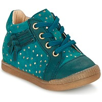 Shoes Girl Hi top trainers Babybotte FALSIFI TURQUOISE / Gold