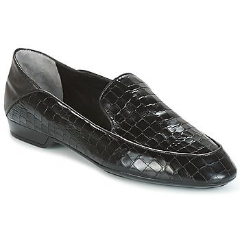 Shoes Women Loafers Robert Clergerie FANIN-COCCO-AGNEAU-NOIR Black