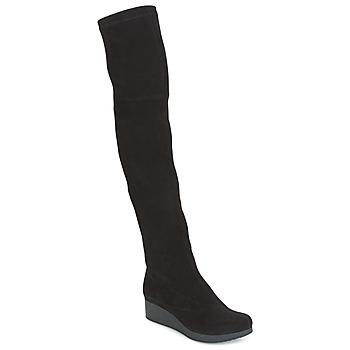 Shoes Women Thigh boots Robert Clergerie Natun-VELOURS-STRETCH-NOIR Black