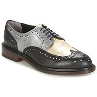 Shoes Women Derby Shoes Robert Clergerie ROELN-GRAFFITI-NOIR-OR-ARGENT Black / GOLD / Silver