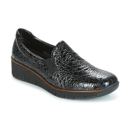 Shoes Women Loafers Rieker LLOYD Black