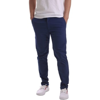Clothing Men 5-pocket trousers Navigare N655019 Trousers Man Blue Blue