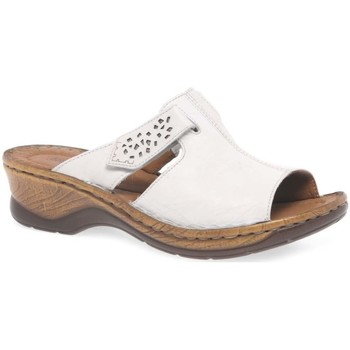 Shoes Women Mules Josef Seibel Catalonia 32 Womens Velcro Fastening Sandals white