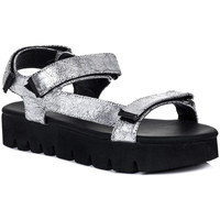 Shoes Women Sandals Spylovebuy KERSHA Flip Flop Flat Strappy Sandals Shoes - Silver Leather St Silver