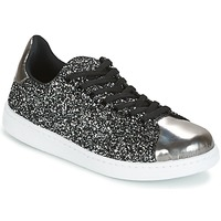 Shoes Women Low top trainers Yurban HELVINE Grey / GLITTER