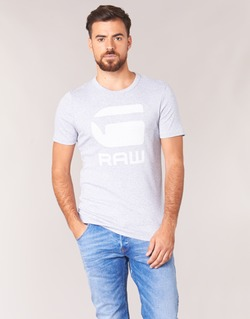 Clothing Men short-sleeved t-shirts G-Star Raw DRILLON Grey
