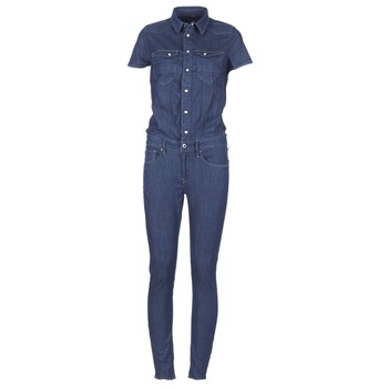 Clothing Women Jumpsuits / Dungarees G-Star Raw TACOMA SLIM JUMPSUIT WMN SS DK / Aged
