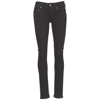 Clothing Women Straight jeans G-Star Raw MIDGE SADDLE MID STRAIGHT Black