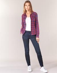 Clothing Women Skinny jeans G-Star Raw 5620 STAQ 3D MID SKINNY WMN Marine