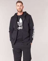 Clothing Men sweaters adidas Performance ESS LIN FZHOODB Black