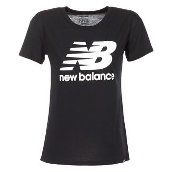 Clothing Women short-sleeved t-shirts New Balance NB LOGO T Black / White