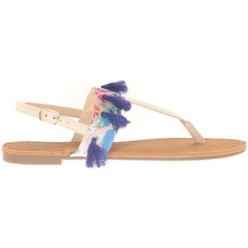 Shoes Women Sandals Cassis Côte d'Azur Ella entre doigt bridées et Pompons Beige Beige