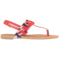 Shoes Women Sandals Cassis Côte d'Azur Ella entre doigt bridées et Pompons Red Red