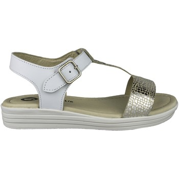 Shoes Girl Sandals Garvalin SANDALIAS PIEL NIÑA WHITE