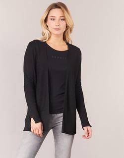 Clothing Women Jackets / Cardigans Esprit IRDU Black