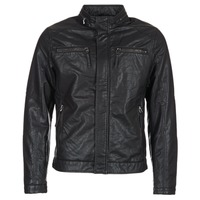 Clothing Men Leather jackets / Imitation leather Esprit VARDA Black