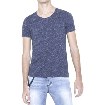 Clothing Men short-sleeved t-shirts Antony Morato MMKS01003 FA100092 T-shirt Man Blue Blue