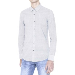 Clothing Men long-sleeved shirts Antony Morato MMSL00378 FA430229 Shirt Man Bianco Bianco