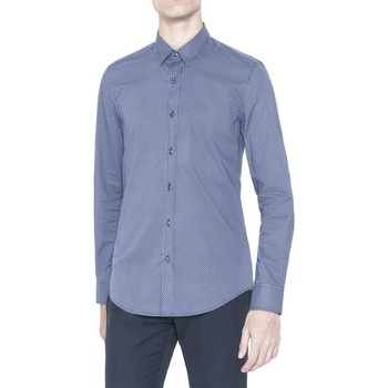 Clothing Men long-sleeved shirts Antony Morato MMSL00378 FA430239 Shirt Man Blue Blue