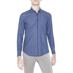 Clothing Men long-sleeved shirts Antony Morato MMSL00383 FA430251 Shirt Man Blue Blue