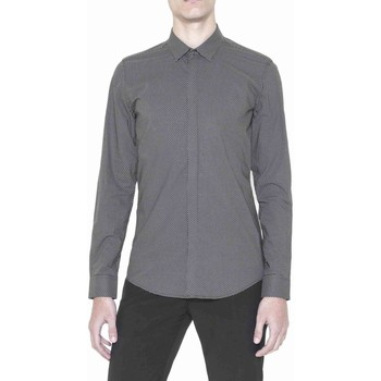 Clothing Men long-sleeved shirts Antony Morato MMSL00384 FA430256 Shirt Man Black Black