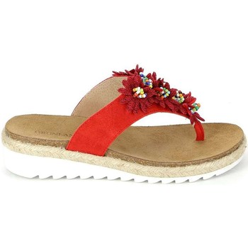 Grunland  CB1489 Flip flops Women  womens Flip flops  Sandals (Shoes) in red