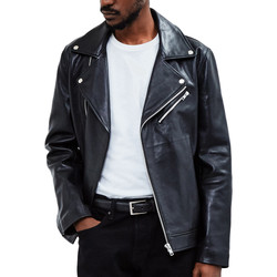 Clothing Men Leather jackets / Imitation leather The Idle Man Leather Biker Jacket Black