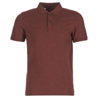 Clothing Men short-sleeved polo shirts Selected ARO Bordeaux