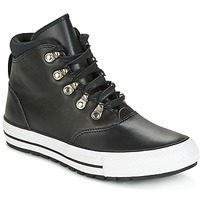 Shoes Women Hi top trainers Converse CHUCK TAYLOR ALL STAR EMBER BOOT SMOOTH LEATHER HI BLACK/BLACK/W Black / White