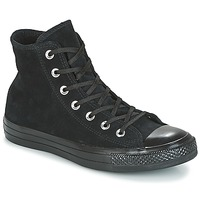 Shoes Women Hi top trainers Converse CHUCK TAYLOR ALL STAR MONO PLUSH SUEDE HI BLACK/BLACK/BLACK Black
