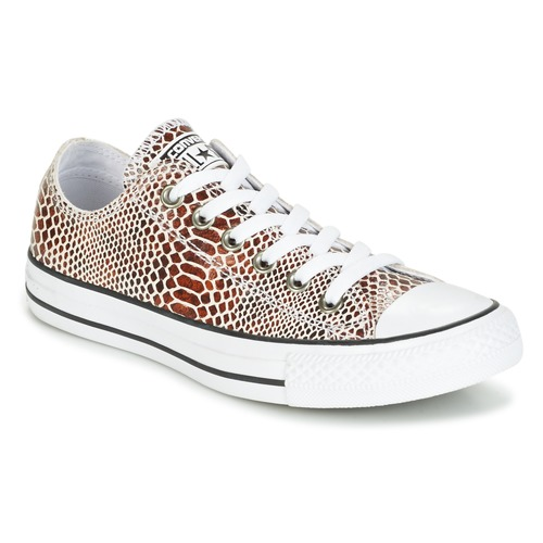 df1117d2ec7 Shoes Women Low top trainers Converse CHUCK TAYLOR ALL STAR FASHION SNAKE  OX BROWN BLACK