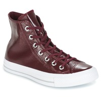 Shoes Women Hi top trainers Converse CHUCK TAYLOR ALL STAR CRINKLED PATENT LEATHER HI DARK SANGRIA/DA BORDEAUX / White