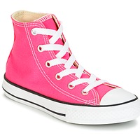Shoes Girl Hi top trainers Converse CHUCK TAYLOR ALL STAR SEASONAL HI PINK POW Pink