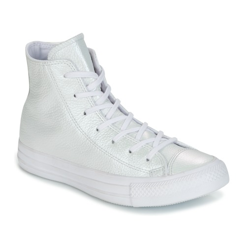Shoes Women Hi top trainers Converse CHUCK TAYLOR ALL STAR IRIDESCENT LEATHER HI IRIDESCENT LEATHER H White
