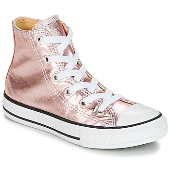 Shoes Girl Hi top trainers Converse CHUCK TAYLOR ALL STAR METALLIC SEASONAL HI METALLIC SEASONAL HI Pink / White / Black