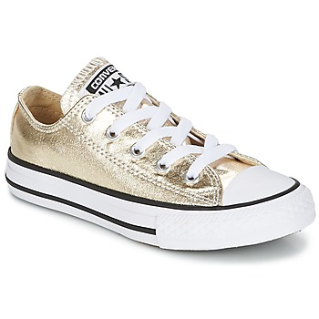 Shoes Girl Low top trainers Converse CHUCK TAYLOR ALL STAR Gold / White / Black