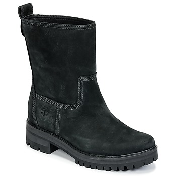 Shoes Women High boots Timberland COURMAYEUR VALLEY MID  BLACK / Earthybuck