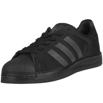 Shoes Children Low top trainers adidas Originals Superstar Bounce J Black-Graphite