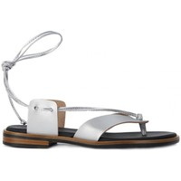 Shoes Women Sandals Frau SATIN SILVER Grigio
