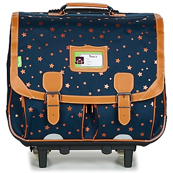 Bags Girl Rucksacks / Trolley bags Tann's ETOILE MARINE TROLLEY CARTABLE 41CM Marine