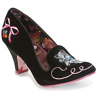 Shoes Women Heels Irregular Choice FUZZY PEG Black