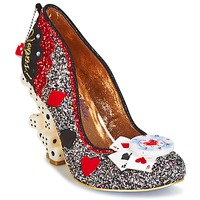 Shoes Women Heels Irregular Choice LAS VEGAS Silver / Black