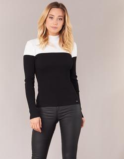 Clothing Women jumpers Morgan MICO Black / White