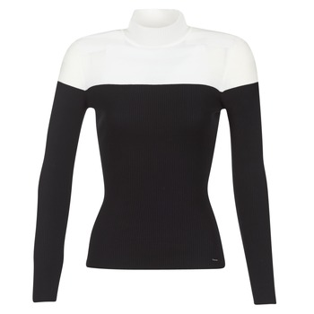 Clothing Women jumpers Morgan MICO Black / White