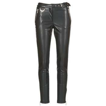 Clothing Women 5-pocket trousers Morgan PEANUT Black