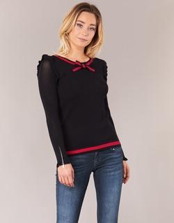 Clothing Women jumpers Morgan MIRTI Black / Red